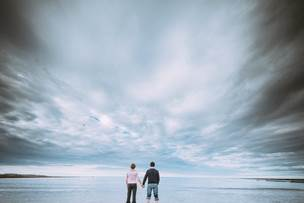 Northumberland Longhoughton Beach Engagement Photography