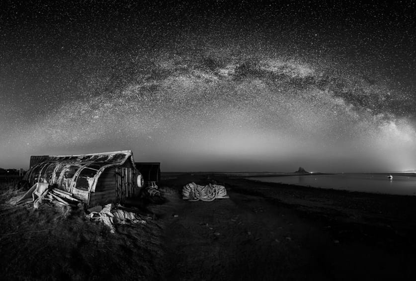 Black and White Milky Way panorama