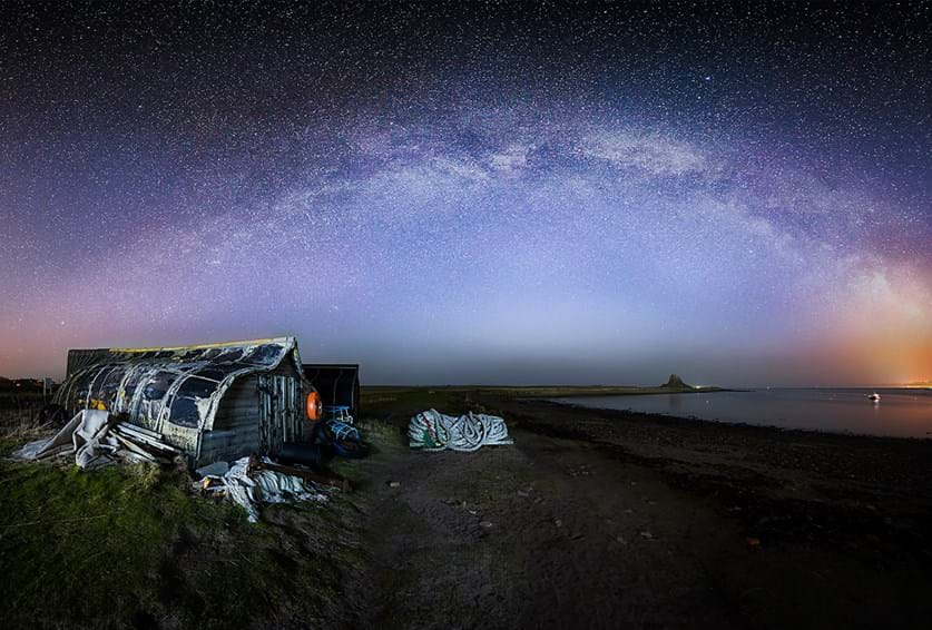 Milky Way from Holy Island
