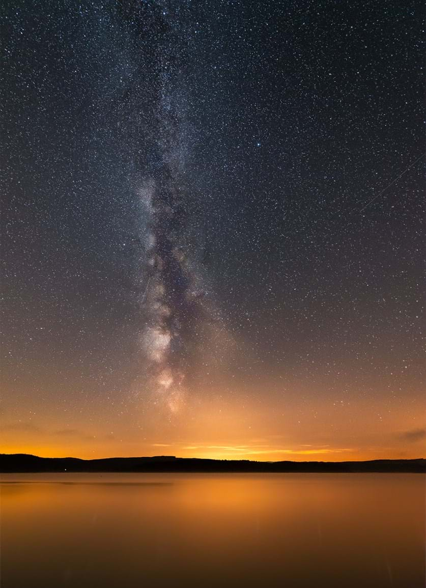 Milky Way over Kielder water