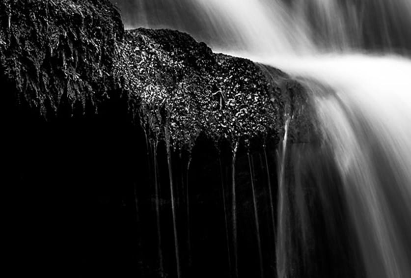 Abstract B&W Scaleber Force Waterfall