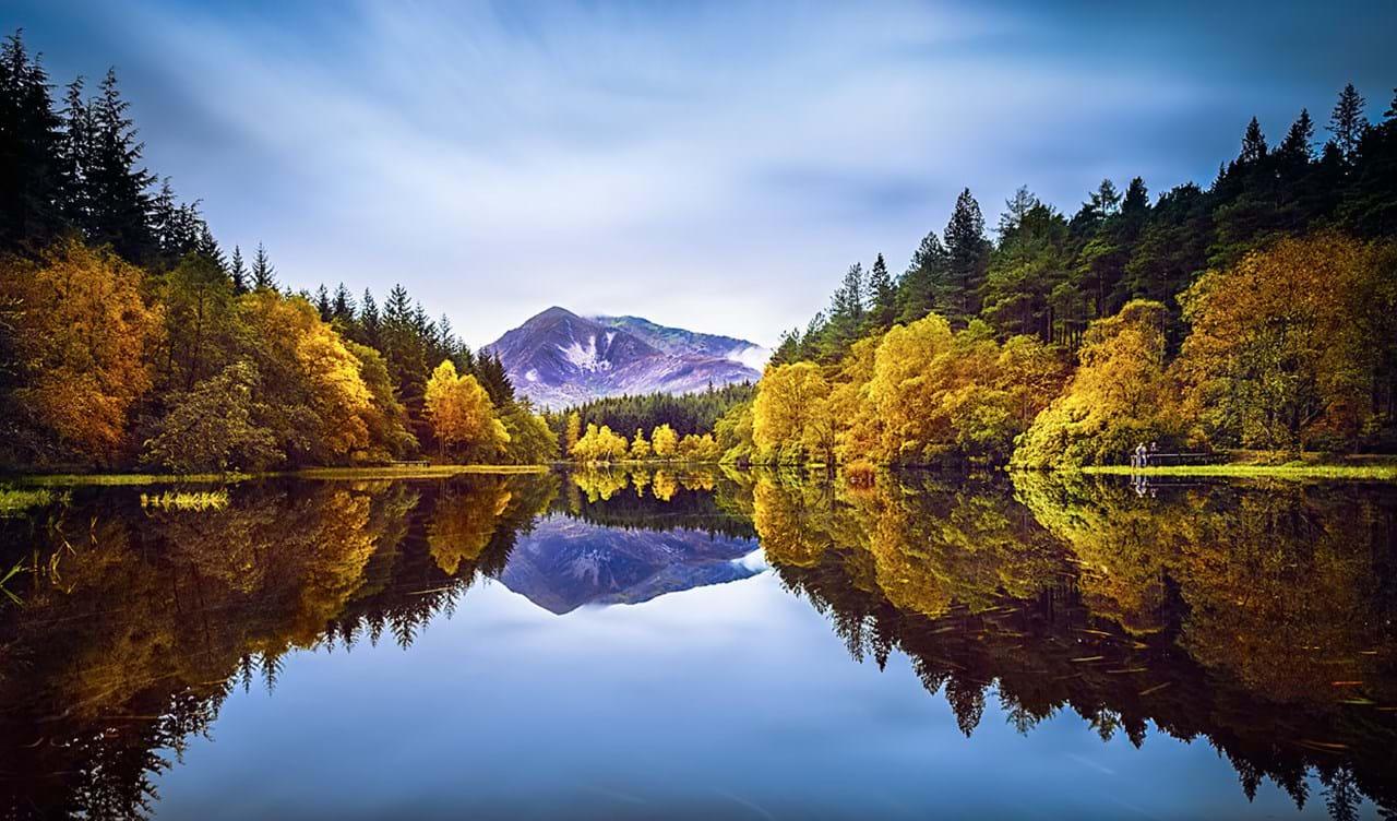 Stunning Autumn Glencoe Lochan