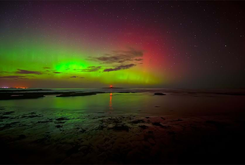Northern Lights over Northumberland