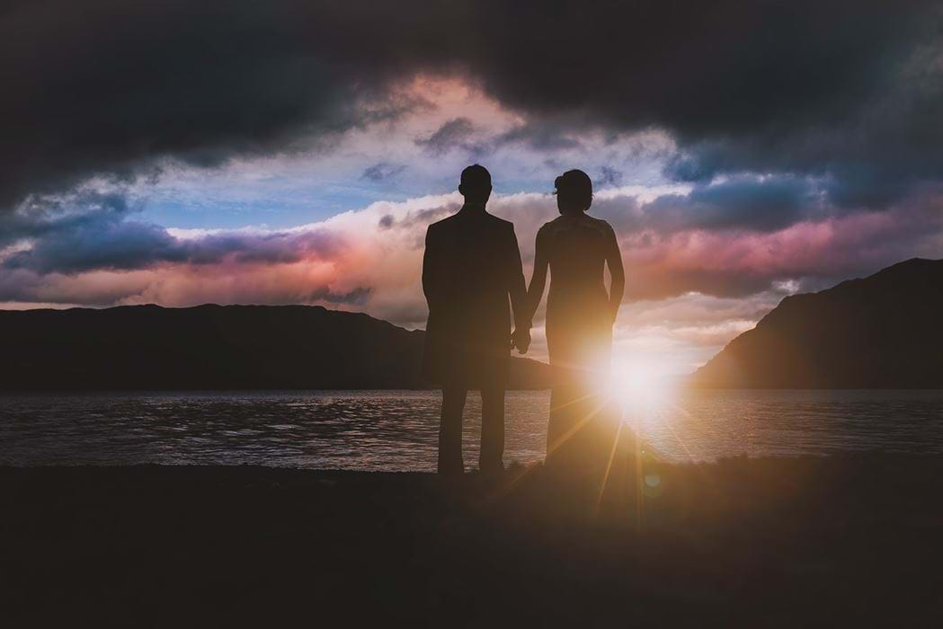 wedding photographer - ullswater wedding sunset
