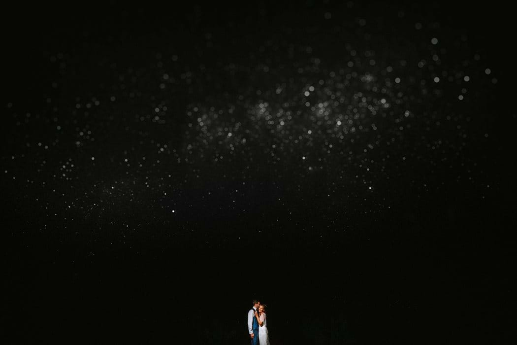 wedding photography under the stars